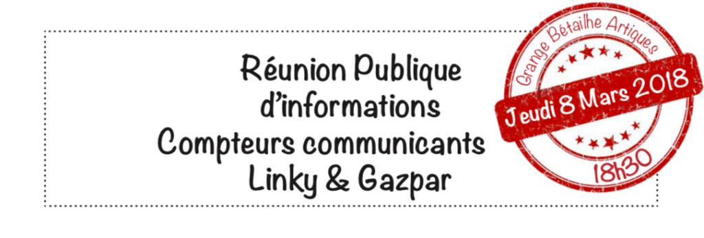 reunion 8 mars Linky Gazpar Artigues pres Bordeaux