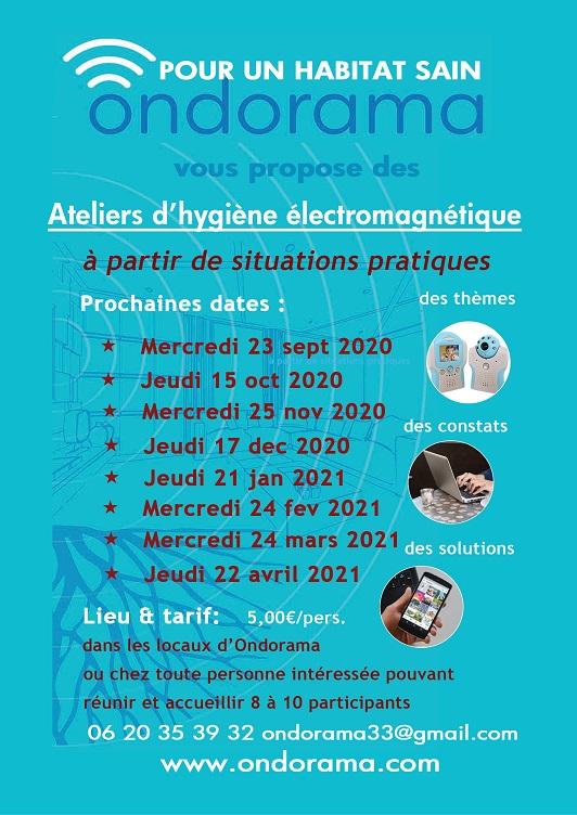 Ondorama ateliers hygiene electromagnetique et hygiene numerique