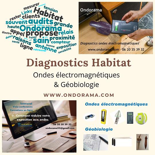 Ondorama diagnostics habitat et lieu de travail ondes électromagnétiques et géobiologie